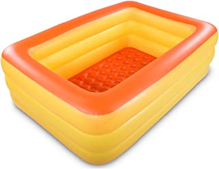 HIWENA Inflatable Family Swim Center Pool, 82 inches Gaint Blow Up Pool Summer Water Fun with Inflatable Soft Floor for Fa...