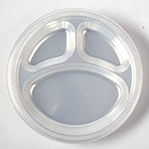 Inches Divided Plates Clear Package