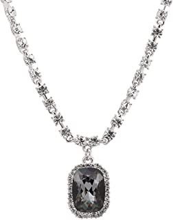 Tsful Chain Necklace for Women Gemstone Necklace in 17.52 Inch Length Cubic Zirconia