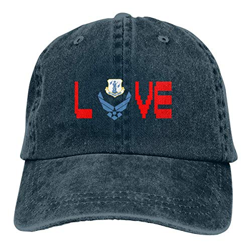 EU Trucker's Casquette de baseball Denim Papa Chapeau Ich Liebe Air National Guard Flag