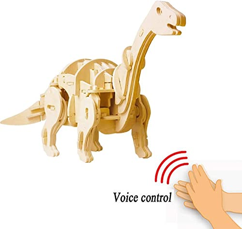 alta calidad ZHX Juguetes de de de Madera 3D Puzzle, DIY Handcraft Dinosaurios montaño Modelo, Control de SoNiño Colorable, Jigsaw Regaños para Niños Kit artesanía de Madera (excluyendo la batería)  envío gratuito a nivel mundial