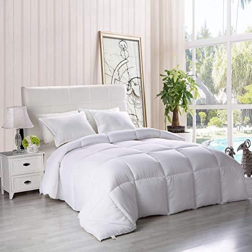 Utopia Bedding Down Alternative Comforter (Twin, White) - All Season Comforter - Plush Siliconized Fiberfill Duvet Insert - Box Stitched