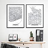 Kanada Toronto Stadtkarte Poster und Drucke Moderne