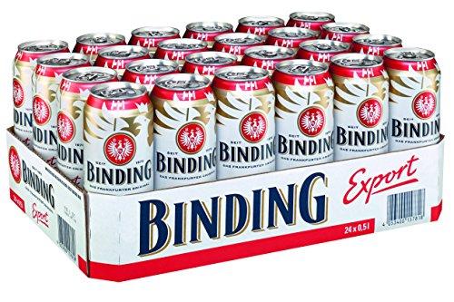 Binding Export (24 x 0.5l), Frankfurter Dosenbier, inkl. 6.00 Euro DPG Pfand EINWEG