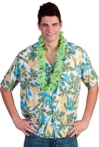 Chemise hawaïenne de Hawaï blanc et vert taille L