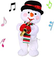 ALIMITOPIA Christmas Saxophone Electric Toy,Xmas Dancing and Musical Doll Electric Toy Novel Gift(Snowman)