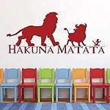 CECILIAPATER Hakuna Matata - Vinilo decorativo para pared, diseño de rey león, Simba, Pumba y Timon, buenos amigos, tema de guardería del rey león, decoración de sala de juegos,