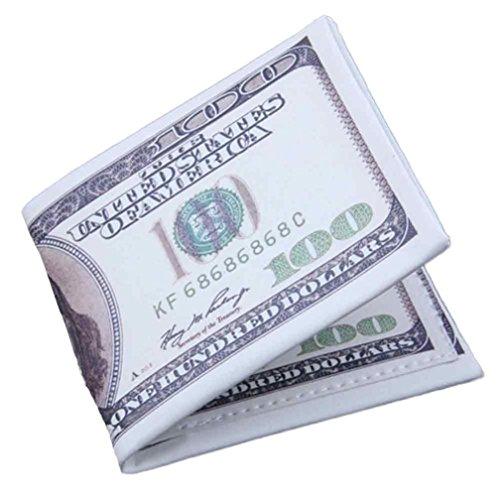 Creazy US Dollar Bill Wallet Brown Leather Wallet Bifold Credit Card Photo