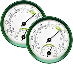 Tentop 2-Pack Mini Thermometer Indoor and Humidity Gauge – Small Thermometer Hygrometer Analog Temperature Monitor for Home Wall Room Greenhouse Incubator Tank Decorative, NO Battery Needed