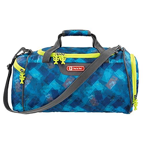 """Step by Step Sporttasche """"City Cops"""", blau/grau, mit Nasswäschefach, abnehmbarer Tragegurt, verstellbarer Schultergurt, für Jungen 1. Klasse, 13L"""