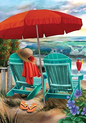 Briarwood Lane Beach Life Summer Garden Flag Nautical Adirondack Chairs 12.5' x 18'