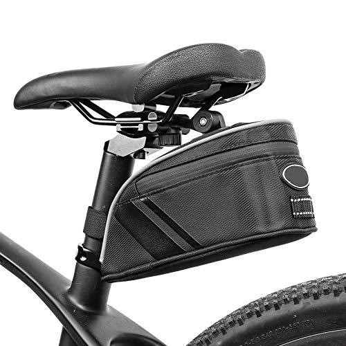 FEXAIX Bolsas de Bicicleta Impermeable Bolsa Herramientas Bicicleta, Multiherramienta Bolsa Sillín Bicicleta para Bicicletas de montaña Autos de Carrera (Color : Black, Size : 25X12X9.5)