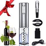 Elektrischer Korkenzieher - GlobaLink automatische Weinöffner Flaschenöffner mit Kapselschneider Ausgießer Wein Stopfen und
