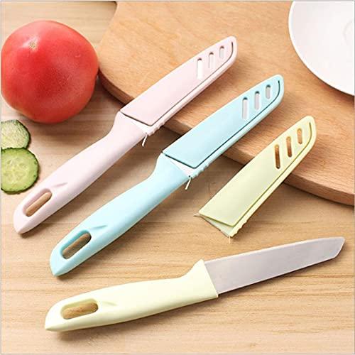 Shulcom Suministros de Cocina para el hogar Mango de plástico Cuchillo para Frutas Cocina Cuchillo para Frutas Suministros de Cocina multifunción