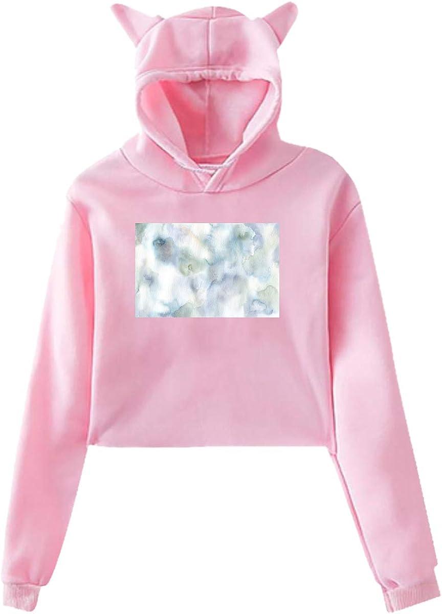 Fashion Sweatshirt Sweater Personality Girl Cat Ears Umbilical Hoodie
