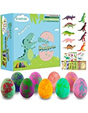 Bath Bombs for Kids with Toys Inside-9 Pack Organic Dinosaur Bath Bombs Gift Set,Bubble Bath Fizzes,Birthday or Easter Gift for Girls and Boys