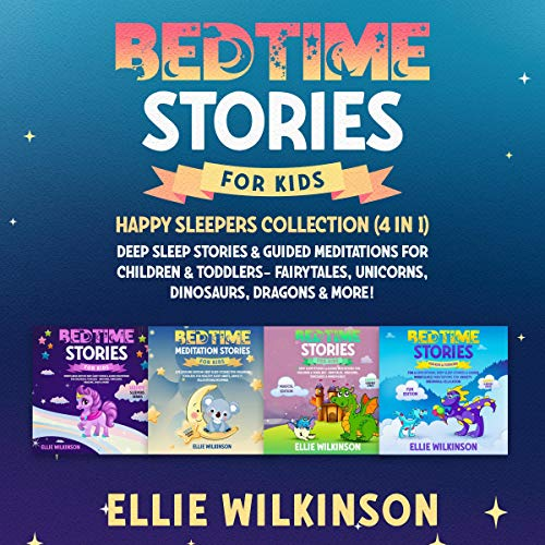 『Bedtime Stories for Kids - Happy Sleepers Collection (4 in 1)』のカバーアート