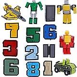 MagiDeal 15pcs Numéros0-9 + Equipement de Robot pour Jeux de Construction Jouet d'Enfant