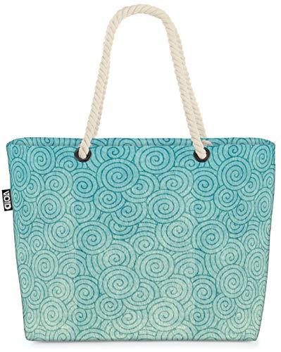 VOID Orientalisches Badehaus Strandtasche Shopper 58x38x16cm 23L XXL Einkaufstasche Tasche Reisetasche Beach Bag