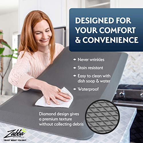 Anti Fatigue Comfort Floor Mat By Sky Mats -Commercial Grade Quality Perfect for Standup Desks, Kitchens, and Garages - Relieves Foot, Knee, and Back Pain (20x32x3/4-Inch, Chocolate Brown)