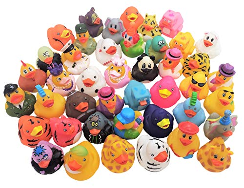 """Zugar Land 50 Assorted Colorful Rubber Duckies (2"""") Ducks Ducky"""