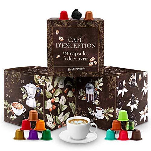 Calendrier de l'avent capsules de cafés bio pour Nespresso® - Calendrier 24 capsules pour...