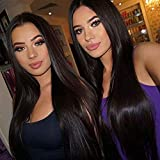 Brazilian Remy Human Hair Straight Lace Front Wigs 130% Density
