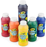 Crayola Washable Finger Paints, 6 Count, School Painting Supplies, Gifts for Kids, 3, 4, 5, 6, 7