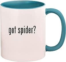 got spider? - 11oz Ceramic Colored Handle and Inside Coffee Mug Cup, Light Blue