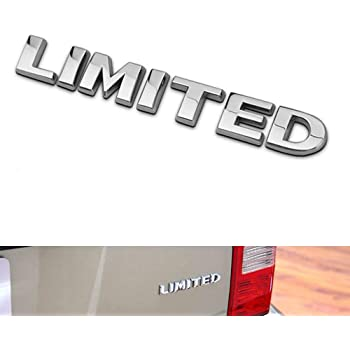 Auto Tuning Trunk Hood Door Decal 3D Logo Replacement for Jeep Grand Cherokee Compass Auto Chrome 2pcs Limited Emblems