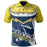 HGTRF Maillots de Rugby, vêtements de Rugby 2020, Polos décontractés, Hauts de t-Shirts pour Chaque équipe à Melbourne, Nouvelle-Zélande (S-3XL) XL Cowboy