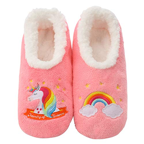 Snoozies Pairables Womens Slippers - House Slippers - Unicorn - Medium
