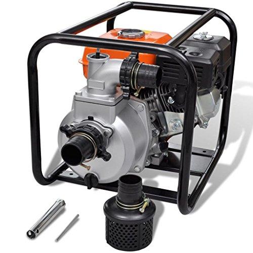 yorten Bomba de Agua Motor de Gasolina Bomba de Agua Riego de Jardines 80 mm Conexión 6,5 HP