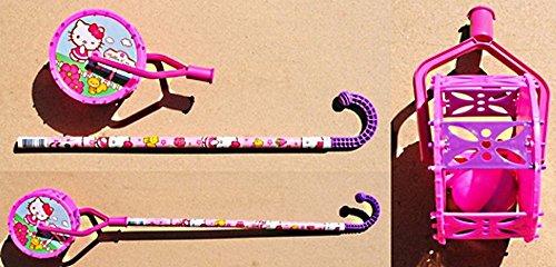 Lot 10 Roues Canne a pousser avec grelot Jouet - Hello Kitty - 242