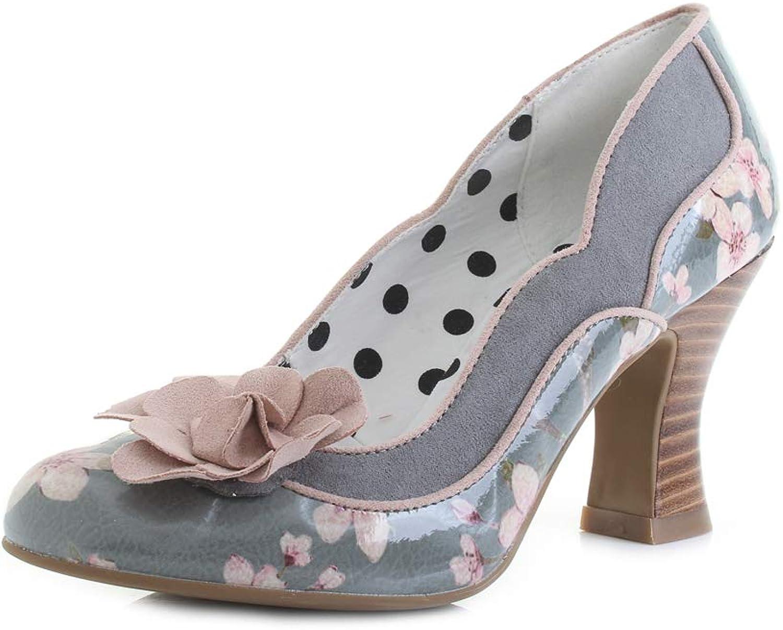 Ruby Shoo Women's purple Sage Floral Slip On Mid Heel Pump