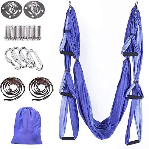 Conjunto de Swing de Yoga aérea, Gravedad Invertida Yoga Hamaca Trapecio, Bolso-Yoga Pilates Silla súper Aptitud Silla con Hamaca de Swing/Sling/inversión (Color : Purple)
