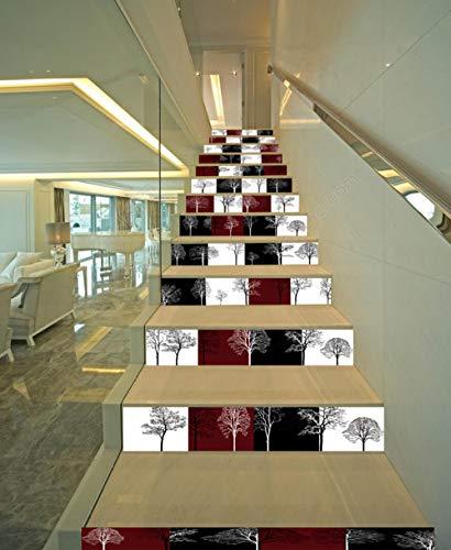 FCFLXJ 3D Creativo 13 Correas De Escalera Patrón De Árbol De Color Sólido Elegante Aliexpress Amazon Supply