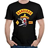 KHEN Bandidos Motorcycle Club Logo MC Member T-shirt Mens Black