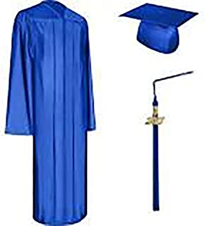 gold graduation cap and gown