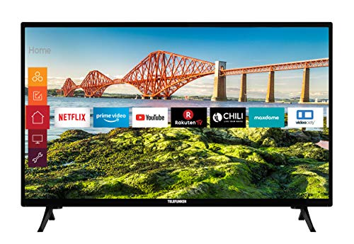 Telefunken XH24J501V 24 Zoll Fernseher (Smart TV inkl. Prime Video / Netflix / YouTube, HD ready, 12 Volt, Works with Alexa, Triple-Tuner) [Modelljahr 2021]