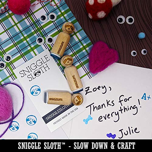 Beach Ball Rubber Stamp for Stamping Crafting Planners - 3/4 Inch Small