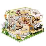 DIY Dollhouse Miniature Kit with Furniture, 3D Wooden Miniature House , 1:24 Scale Miniature Dolls House kit M2111