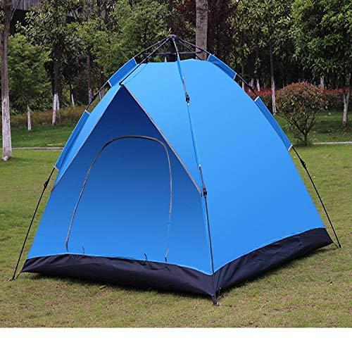 3-4 Leute Automatische schnelle Eröffnung Urlaub Doppellagenplätze Camping Zelt Sonne Proof Tent Sky Blue