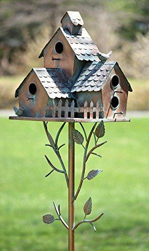 Large Copper Colored Multi-Birdhouse