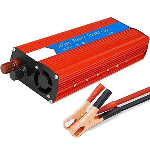 YVX Inversor de Corriente de 3000 W, CC a CA 12 V 24 a 110 V 220 V, 6000 W de Potencia máxima, con Puertos de Carga USB Dobles y Salida de CA, convertidor de Voltaje automotriz de Onda sinusoida