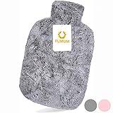 FUMUM Premium Wärmflasche mit Bezug