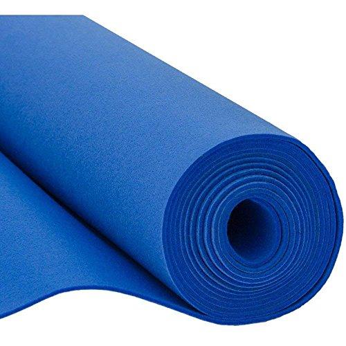 SOFT Filz, Filzstoff, Dekorationsfilz, Weicher Filz, Breite 150cm, Dicke 3mm, Meterware 0,5lfm - blau