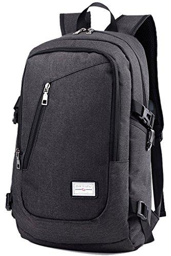 NEWZCERS 20L Fashion Casual Nylon Computer Backpack Sac à bandoulière en couleur unisexe avec port de chargement USB, convient à un ordinateur portable USB de 12 à 16 pouces Sac à dos universitaire Voyage scolaire Bookbag