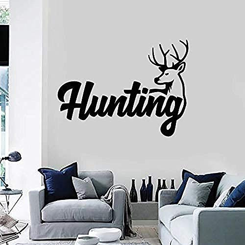 Muursticker behang sticker muursticker hert hoorn hobby dier raam sticker kunst wandafbeelding woonkamer wooncultuur afneembaar 57 * 77 cm