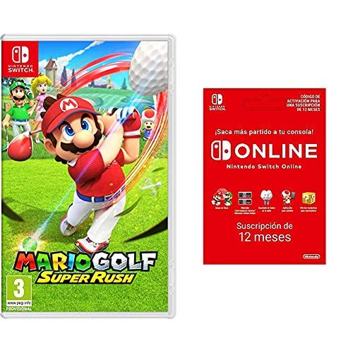 Nintendo SWITCH Mario Golf: Super Rush + Switch Online 12 Meses Código de descarga